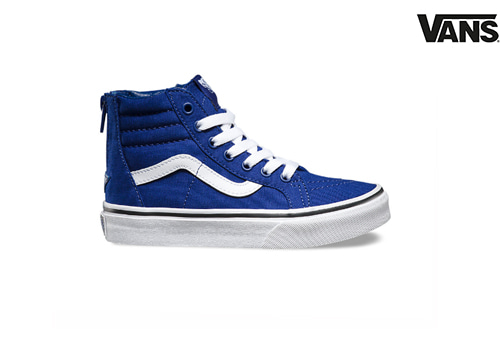 vans kids pop check sk8 hi-zip(blue)