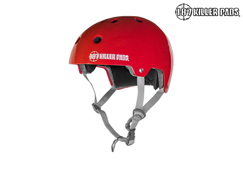 [187 KILLER PADS] CERTIFIED HELMET Youth _gloss red